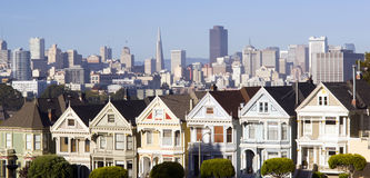 San Francisco Homes Buildings Painted Ladies Stock Photography