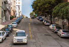 Hilly Streets of San Francisco Royalty Free Stock Photo