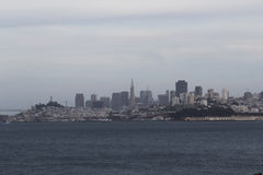 San Franciso City Skyline From Across The Bay In Marin Royalty Free Stock Images