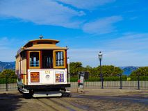 San Franciso with the tram. San Francisco with the tram to the city Stock Photos
