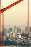 San francisoc and Golden Gate. Golden Gate Bridge, San Francisco skyline, California royalty free stock images