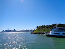 san francsico bay in summert stock photography