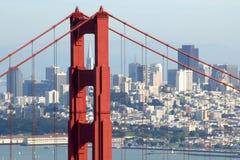 San Francsico con il GGB Fotografia Stock