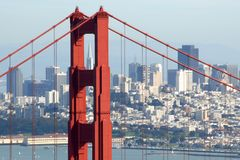 San Francsico par le GGB Photo stock