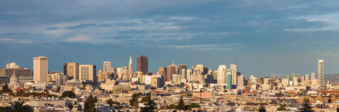 San Franicisco. San Francisco town and skylne in late afternoon light Stock Image