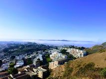 San Fransisco bliźniaka szczyty fotografia stock