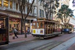 San Fransisco, CA, usa - Marzec, 2016: Wagon kolei linowej Obrazy Stock