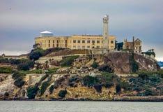 San Fransisco, CA usa skała - Alcatraz więzienie - Zdjęcie Royalty Free