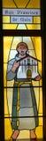 San Fransisco De Asis witrażu okno (święty Francis Assisi) Obraz Royalty Free