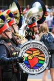San Fransisco dumy parady wolności zespołu dobosz Zdjęcia Royalty Free