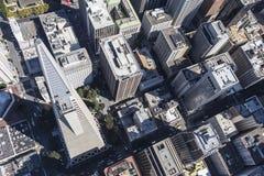 San Fransisco Finacial Architeure Gromadzka antena Fotografia Royalty Free
