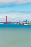 San Fransisco Golden Gate Bridge widoku Telephoto Obraz Stock