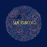 San Fransisco Illustration Royalty Free Stock Image