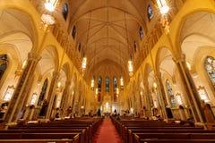 San Fransisco Kalifornia, Grudzień, - 17, 2017: Wnętrze St Patrick kościół Obraz Royalty Free