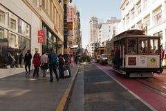 San Fransisco, Kalifornia - usa, Sierpień 2016: Tramwaj w śródmieściu w San Fransisco, Sierpień 2016 Fotografia Royalty Free