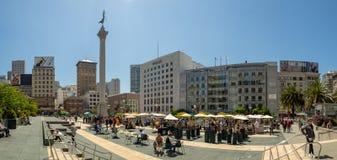 San Fransisco, Kalifornia, usa: Zjednoczenie kwadrata rynek, śródmieście obrazy stock