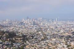 San Fransisco linia horyzontu, CA usa Obrazy Stock