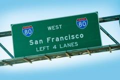 San Fransisco Międzystanowi 80 fotografia stock