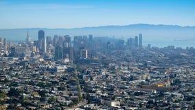 San Fransisco miasta głąbika widok Obrazy Stock