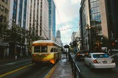 San Fransisco miasta ulicy samochód Obraz Stock