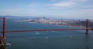 San Fransisco obramiał golden gate Zdjęcia Royalty Free