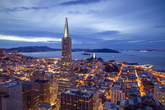 San Fransisco Pieniężny Gromadzki widok z lotu ptaka Zdjęcie Royalty Free