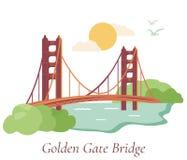 San Fransisco plakat z Golden Gate Bridge Obrazy Royalty Free