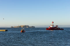 San Fransisco Pożarniczy dział, SFFD łódź. Obrazy Stock