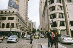 San Fransisco podupadła część śródmieścia Obrazy Royalty Free