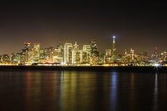 San Fransisco przy nocą Obrazy Royalty Free