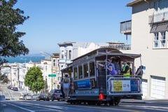 San Fransisco sławni wagony kolei linowej Zdjęcia Royalty Free