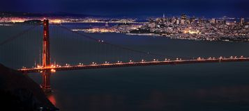 San Fransisco Skyline Imagen de archivo libre de regalías