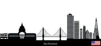 San fransisco skyline vector illustration