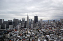 San Fransisco Skyline at cloudy Royalty Free Stock Images