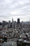 San Fransisco Skyline at cloudy Stock Photography
