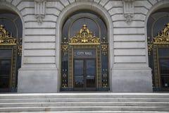 San Fransisco urzędu miasta drzwi Zdjęcie Stock