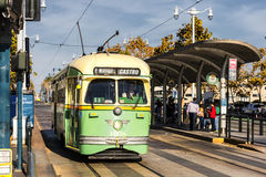 San Fransisco, usa wagonu kolei linowej tramwaj Fotografia Royalty Free