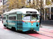 San Fransisco, usa wagonu kolei linowej tramwaj Obraz Stock