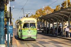 San Fransisco, usa wagonu kolei linowej tramwaj Fotografia Stock