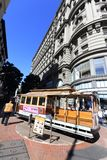 San Fransisco wagon kolei linowej Zdjęcia Stock