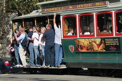 San Fransisco wagon kolei linowej Obrazy Royalty Free