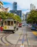 San Fransisco wagon kolei linowej Obraz Royalty Free