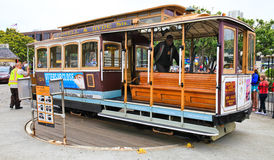 San Fransisco wagonu kolei linowej Turntable Obrazy Stock
