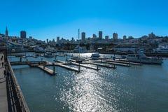 San Fransisco widok od mola 39, Kalifornia Fotografia Royalty Free