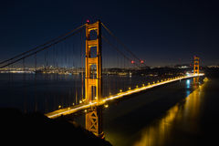 San Fransisco Złoci Wrota Most przy Błękitny Godzina Fotografia Royalty Free