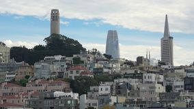 San Fransisco z w centrum skyscapers w tle zbiory wideo