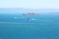 San Fransisco zatoka, widok w kierunku Alcatraz zdjęcia royalty free