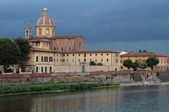 San Frediano and Arno river under the storm Royalty Free Stock Photo