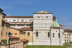 San Frediano church in Lucca, Italy. Stock Photography