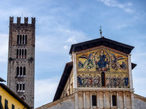 San Frediano church with mosaics in Lucca Stock Photography